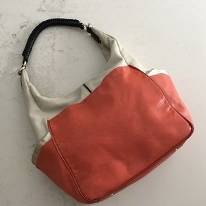 Diane Von Furstenberg color blocked hobo bag